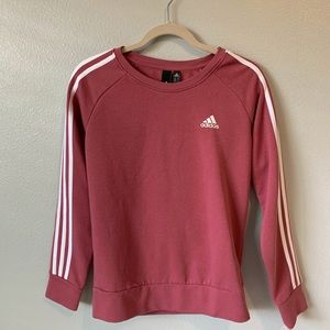 pink Adidas super soft three striped pull-over